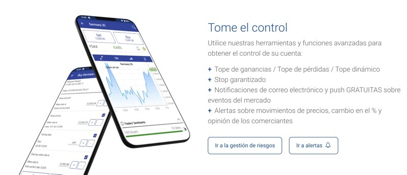 Invertir desde el móvil con Plus500